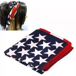 SODIAL(R) Bandeau de cheveux de drapeau americain Bleu et Rouge (Town Youth, neuf)