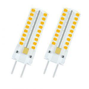 1819 GY6.35 Ampoule LED 5 watts 12 Volts G6.35 / GY6.35 Ampoules de Rechange Halogène à Culot Double 50W Non Dimmable, Blanc Chaud 3000K (paquet de 2) (WeiHong Lighting, neuf)