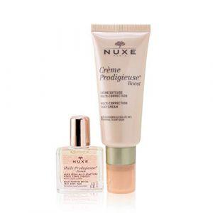 Nuxe Crème Prodigieuse Boost Crème Soyeuse Multi-Correction 40 ml + Huile Prodigieuse Florale Visage-Corps-Cheveux 10 ml Offert (Pharmast, neuf)