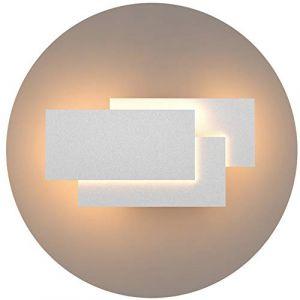 Klighten Appliques Murales Interieur LED Lampe 24W 1920LM Moderne Applique Murale pour Chambre Maison Couloir Salon Blanc chaud 3000K (Oppsun-EU, neuf)