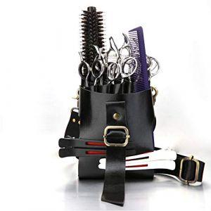 Scissor Pouch Holster Coiffeur Personnalité Mode En Cuir Ciseaux Sac avec Ceinture D'épaule Taille (Cangyana Personal&care shop, neuf)