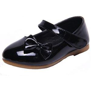 PPXID Fille Princesse Chaussure Flat Mary Janes(Petit Enfant Bébé)-Noir(Bow) 23 (ZHIFANG, neuf)