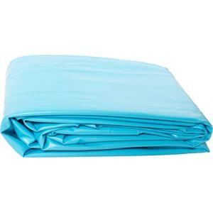Liner PVC pour piscine poolomio, liner de grande qualité et résistant au froid, adapté aux piscines avec parois en acier de Ø 460 x 120 cm x 0,4 mm (Poolomio, neuf)