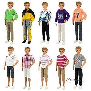 Miunana 5 Vêtements Pour Poupée Ken - Fiancé de Barbie de Livraison Aléatoire ( Neuf Marketplace )