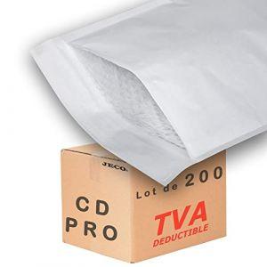 JECO - 200 Enveloppes à bulles d'air pochettes matelassées d'expédition PRO format CD int. 150 x 170 mm (JECO-DISTRIBUTION, neuf)