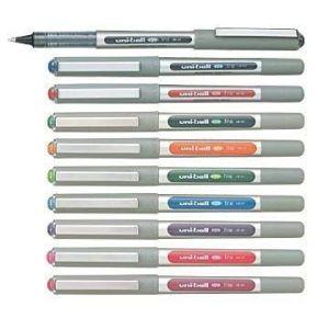 10Colours Pen Uni-Ball Eye Fine, 0,4mm Medium, UB 157UB157Lot de Lot toutes les 10Assortiment Couleurs assorties, stylo roller stylo à pointe fine encre roller stylo (allpremio, neuf)