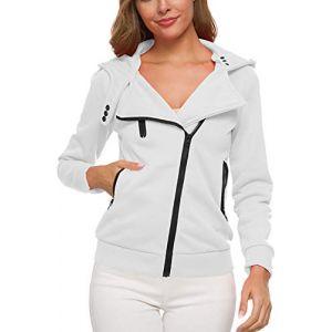 - Des Sweat - Shirts Veste Polaire Un Sweat À Capuche White S (Suvotimo Fashion, neuf)