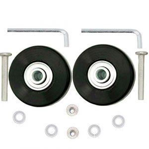 ORO Valise Roues de Rechange 1 Paire de roulettes de Rechange pour Bagages, Extérieur Inline Skate Ou Roller 50 * 18mm 45 * 18mm 80 * 24mm (45x18mm) (ORO-EU, neuf)
