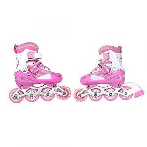 TureFans Rollers pour Enfants/Adolescents Rollers Réglables avec Le Rôle Clignotant Patins - Deux Tailles:31-34, 35-38 (31-34) (TureFans, neuf)