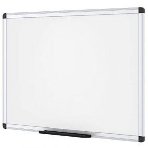 VIZ-PRO Tableau Blanc | surface laquée aimantée | cadre en aluminium, 90 x 60 cm (AUCS, neuf)