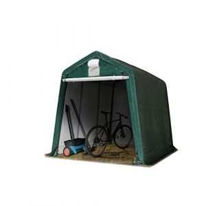 TOOLPORT 2,4 x 3,6 m Garage, abri de Stockage, PE 260 g/m², Tente Garage Vert foncé (INTENT24, neuf)