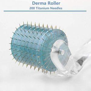 Derma Roller 200 aiguilles en titane Soin de la peau Anti Age Rides cicatrices d'acné (Lemedy, neuf)