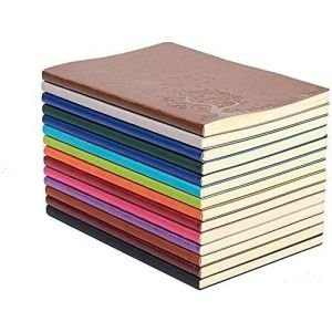 GRT A5 PU Cuir Carnet d'écriture Coloré Journal Journal Journal Notepad Journal de voyage mignon (Set de 4 couleur aléatoire) (GRT EU, neuf)