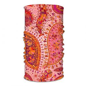 Bandana jolie rose imprimé floral foulard magique bandana tube masque pour entraînement yoga course randonnée équitation (Tzshak, neuf)