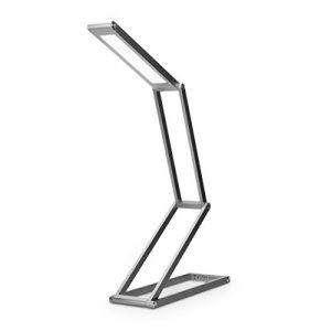 kwmobile Lampe de bureau LED - Luminaire pliable en aluminium sans fil avec micro-USB et crochet amovible - Lumière table de nuit salon - anthracite (KW-Commerce, neuf)