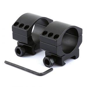 Dophee Lunette de visée Anneau de Montage Low Profile Heavy Duty Rifle Scope Anneaux de Montage avec 6 Boulons pour Weaver Rail Picatinny 2×30mm (Hicello-uk, neuf)