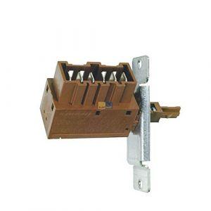 Interrupteur à bouton-poussoir Interrupteur marche/arrêt 1 voie Lave-vaisselle Electrolux AEG 11157410101 (stock de pièces détachées, neuf)