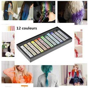 Kit Salon Coloration Semi-permanent Craie Crayon de Teinture à Cheveux Coiffure Temporaire Cheveux Coloration Non toxique 12/24 Couleurs (YJZQ, neuf)