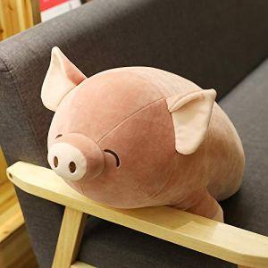 Mignon rose couché cochon sommeil oreiller porcelet jouet en peluche enfants apaisant chiffon poupée poupée cadeau de Saint Valentin rose 60 cm (lizhaowei531045832, neuf)