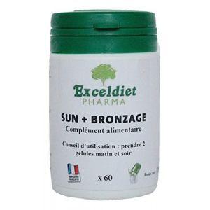 Gélules Bronzantes | Toutes Peaux | Accélérateur de Bronzage | Toute Saison | Sun + | 60 Gélules (EXCELDIET PHARMA, neuf)