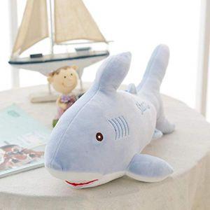 Peluche animal marin requin pingouin mignon bébé créatif en peluche poupée enfants cadeau d'anniversaire-requin_35 cm (lizhaowei531045832, neuf)