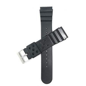 Bandini Bracelet de Montre de Sport en Caoutchouc Noir pour Hommes pour Les modèles Seiko Diver et Plus (22mm) (Shoptictoc., neuf)