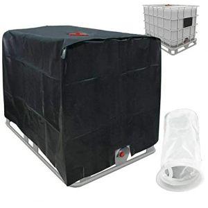 Feuille de protection pour capot de protection solaire pour réservoir d'eau de pluie Récipient IBC 1000 L noir (readyeu, neuf)