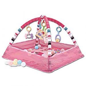 Seciie Tapis de Jeux pour Bébé, Tapis dÉveil Enfants Multifonction Tapis de Jeu Kick et Play Piano Gym Jouet de Tapis para Bébé - Rose (Y8EQ, neuf)