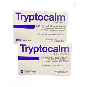 Tryptocalm - Equilibre de L'humeur - stress - Nervosité - Troubles du sommeil - Boite de 30 Comp - Lot de 2 boîtes (WEBPARA, neuf)