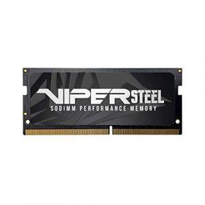 Patriot Memory Viper Steel SODIMM DDR4 2400 8GB (1x8GB) C15 Mémoire pour Ordinateurs Portables de Gamer XMP 2.0 Gris PVS48G240C5S (GadgetLifestyle, neuf)
