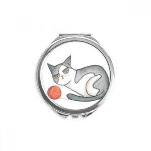 DIYthinker miaoji peinture miroir aquarelle de marionnettes cat ronde maquillage de poche à la main portable 2,6 pouces x 2,4 pouces x 0,3 pouce Multicolore (bestchong, neuf)