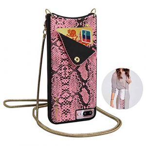 Qianyou, Sac bandoulière pour femme rose rose iPhone 7 plus/8 plus (Qiyou, neuf)