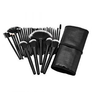 MEISINI Pinceaux de maquillage cosmétiques Set Sourcils Visage Joue Blush Fondation poudre Pinceau de maquillage Set avec sac noir (zcyou, neuf)