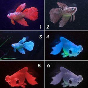 juxinuk 1 pc Silicone Faux Poisson Rouge Home Aquarium Ornement Décoration (1) (KUOZEN, neuf)