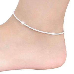 Malloom® Chanvre Bracelet Corde Femmes ChaîNe De Cheville Pieds Nus Pieds Bijoux De Sandale De Plage (Malloom®, neuf)