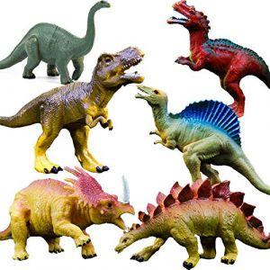 """GuassLee OuMuaMua Jouets Réalistes de Dinosaure - Paquet de 6 """"Dinosaures en Plastique de Grande Taille de 7 po pour Enfants (giant ball, neuf)"""