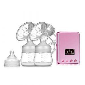 Améliorer Tire-lait électrique Double, Pompe d'allaitement Silencieux Sans BPA,Pink (SMS ShangHang, neuf)