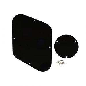 Musiclily Jeu de Plaque de Protection Arrière et Couvercle Interrupteur pour Guitare Gibson Les Paul, 1 pli Noir Vernissé (Musiclily Direct France, neuf)