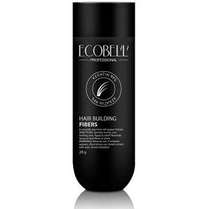 Ecobell 28 grammes NOIR Poudre de cheveux volumatrice densitée calvitie (JeVeuxMesCheveux, neuf)