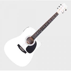 Classic Cantabile WS-10WH-CE Guitare Folk Blanc Avec Micro (Maison de la musique Kirstein, neuf)