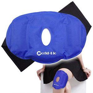 Genou Poche De Glace Gel Compresse Chaud Froid Pour Genou Réutilisable - Pour Douleur Articulaire, Douleur Arthritique, les Maux,bursite, tendinite, etc (WorldBio, neuf)