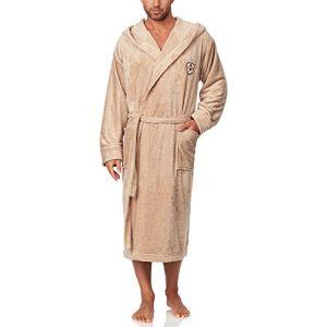 L&L Robe de Chambre à Capuche Veste d'Intérieur Homme LL0042 (Cappuccino, XL) (Hisert, neuf)