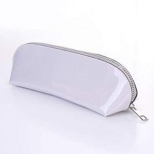 Nouveau rouge à lèvres crayon à sourcils sac de maquillage sac de maquillage portable sac à cosmétiques portable trompette féminine tempérament simple argent (ManManXu, neuf)