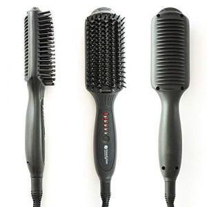 Trendyliss Lily Brush - Brosse lissante Ionic Haut de Gamme Professionnelle en Céramique - Réglable 200°C - Cordon 2,5m rotatif 360° (Hair-Professionnel, neuf)