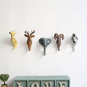 Here&There 3D Mignon Animal Patère Porte-manteau Crochets Mural en Résine Decoration Bébé Enfant Chambre (Antilope) (Here&There Trade .Ltd, neuf)