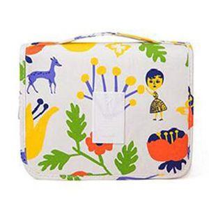 NOVAGO Trousse de Toilette Pliable, Trousse Maquillage Pliable et Compact résistant à l'eau (Blanc) (NOVAGO-Vendeur PRO français, neuf)