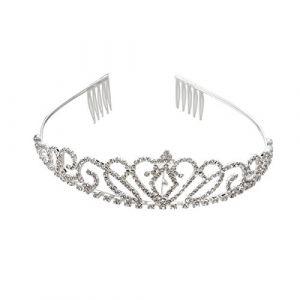 NUOLUX Mariage Rhinestone Bridal Tiara / Couronne / bandeau / boucle de cheveux avec le petit peigne (ruban) (Cassier, neuf)