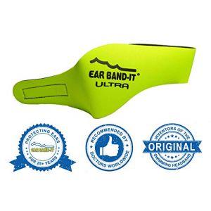 Ear Band-It Natation Bandeau (retenir l' Eau, maintenez Bouchons Oreilles) recommandé par Le médecin et Protection Contre l' Eau Moyen (âges 4-9) Jaune (Tiger Blue, neuf)