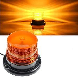 Gyrophare LED orange 12V-80V lumière stroboscopique feux clignotant d'urgence Attention signalement Ambre lumières pour camion véhicule |strobe beacon light (Dinfu EU, neuf)