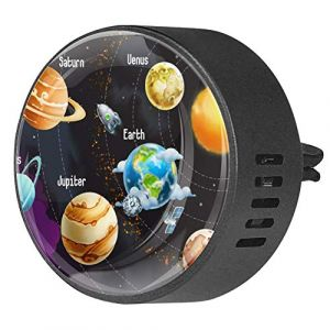 2 pièces voiture aromathérapie huile essentielle diffuseur de voiture parfum évent Clip assainisseur d'air univers espace système solaire coloré (Nathaniel Toynbee, neuf)